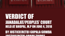 Verdict of Jan Adalat/Peoples' Court